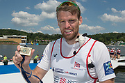 Poznan,  POLAND,  Sunday, 19/06/2016,  GBR Men.s Single Scull, GBR M1X Alan CAMPBELL,  FISA World Cup III, Malta Lake.  FISA World Cup III, Malta Lake.[Mandatory Credit; Peter SPURRIER/Intersport-images]