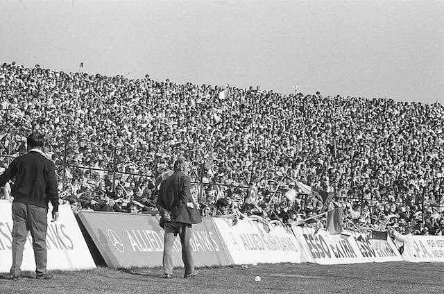 Crowds of supporters at the All Ireland Senior Hurling Final, Cork v Kilkenny in Croke Park on the 3rd September 1972. Kilkenny 3-24, Cork 5-11.