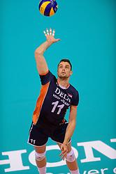 20150619 NED: World League Nederland - Portugal, Groningen<br /> De Nederlandse volleyballers hebben in de World League ook hun derde duel met Portugal gewonnen. Na de uitzeges van half mei was Oranje in Groningen met 3-0 te sterk: 25-18, 25-21, 25-23 / Dick Kooy #11