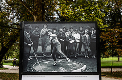 Photo of Women Shot Put in Ljubljana, year 1961 during Opening ceremony of photo exhibition at 100 years Anniversary of Slovenian Athletic Federation, on September 17, 2020 in Tivoli park, Jakopicevo sprehajalisce, Ljubljana, Slovenia. Photo by Vid Ponikvar / Sportida