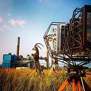 """Modern Industry"" photo shoot at the Eastman Kodak power plant."
