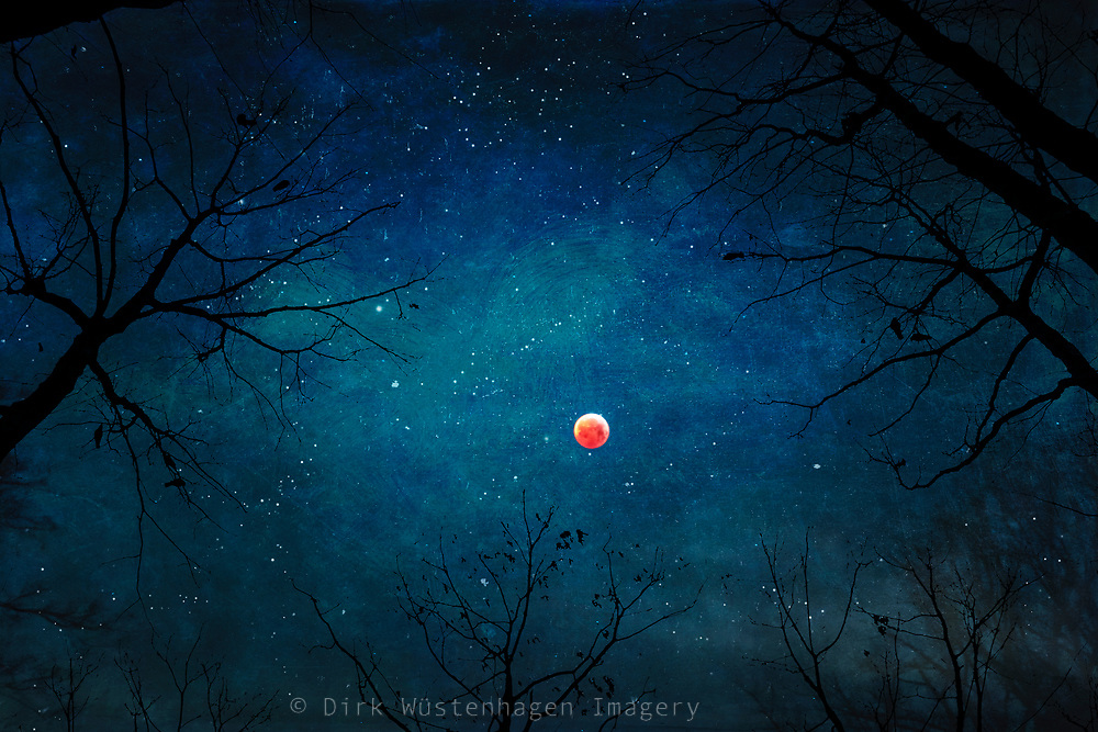 Eclipse of the moon Jan 25, 2019 - textured photograph<br /> Redbubble prints & more--> https://rdbl.co/2UJPXQU