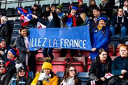 France Women fans - Mandatory by-line: Robbie Stephenson/JMP - 10/02/2019 - RUGBY - Castle Park - Doncaster, England - England Women v France Women - Women's Six Nations