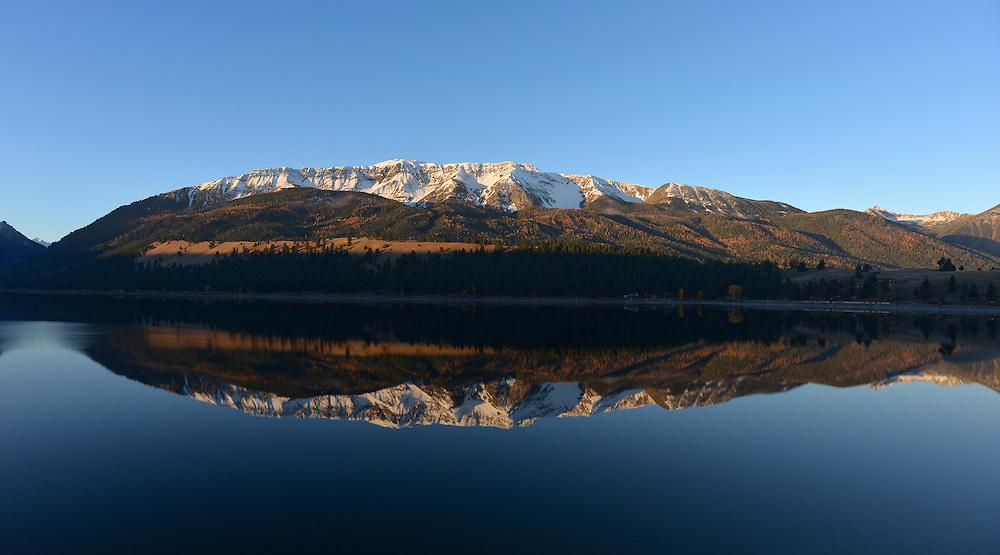 Chief Joseph Mountain reflected in Wallowa Lake, Oregon.
