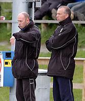 Fotball, NM, Cup Trondheim 26.05.2004, Strindheim - Fana 5-2, trener Ronal Wenaas og ass.trener Lars Chr. Engen, Strindheim<br />Foto: Carl-Erik Eriksson, Digitalsport