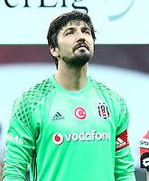 Turkey superlig match between Besiktas and Alanyaspor at Vodafone Arena in Istanbul , Turkey on August 20 , 2016.<br /> Final Score : Besiktas 4 - Alanyaspor 1<br /> Pictured: Goalkeeper Tolga Zengin of Besiktas.