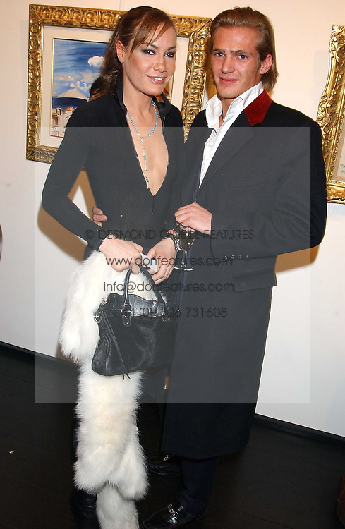 TARA PALMER-TOMPKINSON and JACOBI ANSTRUTHER-GOUGH-CALTHORPE at the opening of an exhibition of paintings and watercolours by Raoul Dufy held at the Opera Gallery, 134 New Bond Street, London W1 on 6th February 2006.<br /><br />NON EXCLUSIVE - WORLD RIGHTS