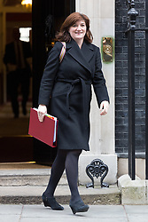 © Licensed to London News Pictures. 10/03/2015. London, UK. Nicky Morgan leaves a cabinet meeting at 10 Downing Street in London on Tuesday 10th March 2015. Photo credit : Vickie Flores/LNP