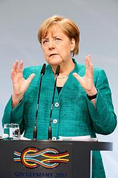 July 8, 2017 - Hamburg, Hamburg, Deutschland - Angela Merkel bei einer Pressekonferenz auf dem G20-Gipfel. Hamburg, 08.07.2017. (Credit Image: © Future-Image via ZUMA Press)