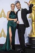 """88th Academy Awards press room.<br /> zemmgnuel Lubezki winner for best cinema photography for the film """"The Revenant."""""""