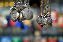 16th June 2017 - FIFA Confederations Cup - Souvenir necklaces and pendants for sale on a stall in Saint Petersburg - Photo: Simon Stacpoole / Offside.