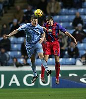 Photo: Lee Earle.<br /> Coventry City v Crystal Palace. Coca Cola Championship. 13/01/2007. Coventry's Kevin Kyle (L) clashes with Mark Hudson.