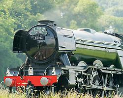 BR 60103 The Flying Scotsman steam locomotive on its way through Shropshire, England<br /> <br /> (c) John Baguley | Edinburgh Elite media