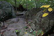 Vernon, New Jersey - A view of the rocky path as the Appalachian Trail heads up Wawayanda Mountain on Sept. 22, 2012.