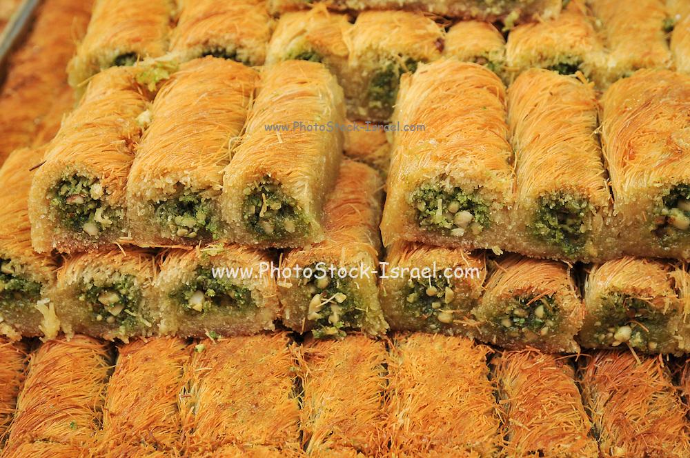 Baklava sweet pastries Photographed in Israel, Jerusalem