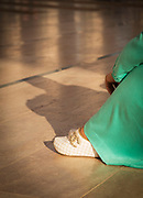 Shoe of woman at Mosque Hassan II in Casablanca, Morocco
