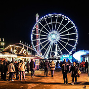 Hundreds of people attends the Winter Wonderland 2016 Opening day with endless of fun and game also food and drinks to keep you body warm fantanstic  illuminite lighting all over the fair on 18th November 2016 in Hype Park,London,UK. Photo by See Li