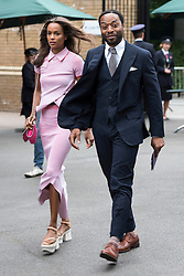 © Licensed to London News Pictures. 08/07/2016.  CHIWETEL and FRANCES AATERNIR arrive for the twelfth day of the WIMBLEDON Lawn Tennis Championships. London, UK. Photo credit: Ray Tang/LNP