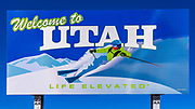 Welcome to Utah border sign, Utah USA