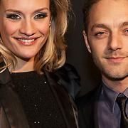NLD/Amsterdam/20150211 - Premiere Fifty Shades of Grey, Tommie christiaan en partner Michelle Splietelhof