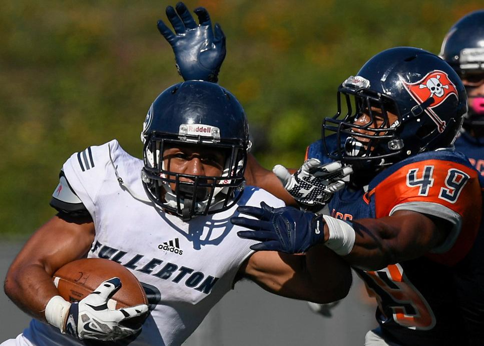 during Fullerton College vs Orange Coast College at , Costa Mesa, California, USA on November 05, 2016. Photo: Bill Baum