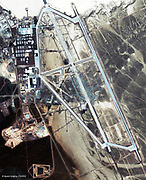 Area 51 is a military base located in southern Nevada in the western United State. The base's primary purpose is to support development and testing of experimental aircraft and weapons systems. The intense secrecy surrounding the base, the very existence of which the U.S. government barely acknowledges, has made it the frequent subject of conspiracy theories and a central component to unidentified flying object (UFO) folklore