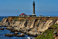Point Arena lighthouse. Image taken with a Nikon D3 camera and 80-400 mm VR lens (ISO 200, 13 mm, f/16, 1/400 sec).
