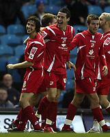 Photo: Paul Thomas/Sportsbeat Images.<br /> Leeds United v Swindon Town. Coca Cola League 1. 17/11/2007.<br /> <br /> Lee Peacock (C) and Swindon celebrate his goal.