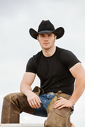 sexy cowboy in chaps