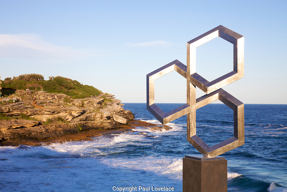 The world's largest free-to-the-public outdoor sculpture exhibition, Sculpture by the Sea, Bondi. ..Fatih Semiz- Isometric Trinity
