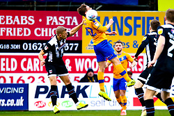 Danny Rose of Mansfield Town gets a head to the ball - Mandatory by-line: Ryan Crockett/JMP - 04/01/2020 - FOOTBALL - One Call Stadium - Mansfield, England - Mansfield Town v Grimsby Town - Sky Bet League Two