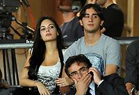 Fotball<br /> Italia<br /> Foto: Insidefoto/Digitalsport<br /> NORWAY ONLY<br /> <br /> Alberto Aquilani (Juventus) e Michela Quattrociocche<br /> <br /> Juventus vs Sturm Graz<br /> Ritorno di Europa League 2011 - UEFA Europa League 2011 2nd leg<br /> 26.08.2010