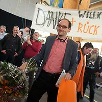 DEU, Deutschland, Germany, Neumarkt i. d. Oberpfalz, 10.05.2013:<br />Bundesparteitag der Piratenpartei Deutschland. Johannes Ponader nach seinem Rücktritt als politischer Geschäftsführer der Piratenpartei.