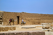 Panoramic view of the area around the stepped pyramid, the first Egyptian Pyramid of Pharaoh Djoser situated in the necropolis of Saqqara.