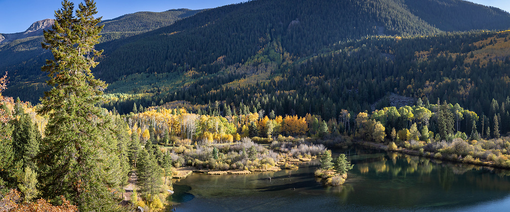Fall color shows off the roadside near Independence Pass, drawing crowds of motorists.