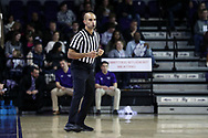 HIGH POINT, NC - JANUARY 06: Referee Matt Myers. The High Point University of Panthers hosted the Charleston Southern University Buccaneers on January 6, 2018 at Millis Athletic Convocation Center in High Point, NC in a Division I men's college basketball game. HPU won the game 80-59.