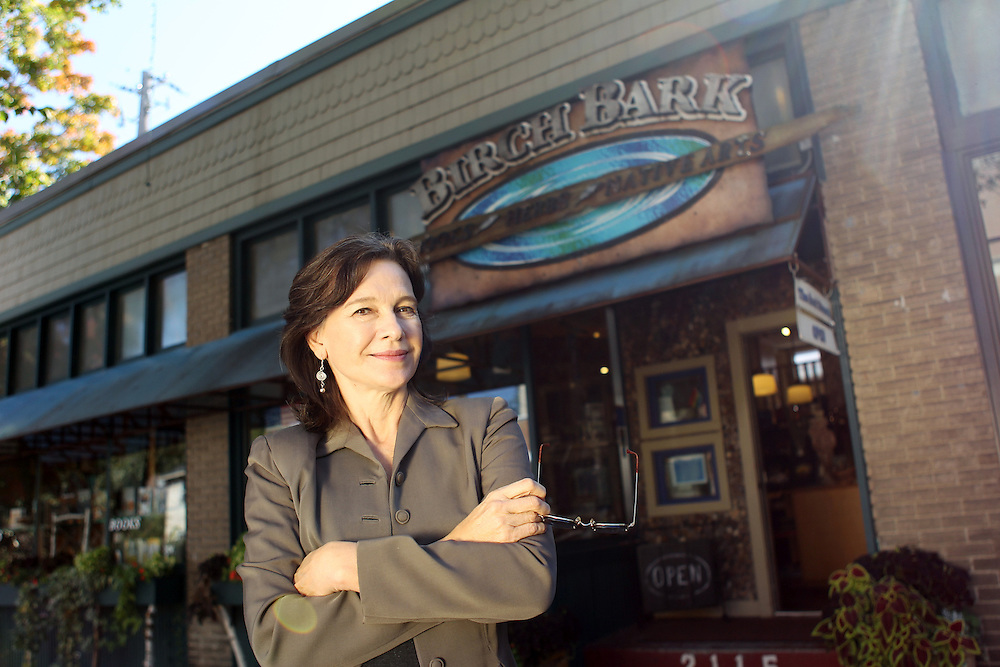 """Author Louise Erdrich photographed at her bookstore, Birchbark Books and Native Arts, in Minneapolis, MN, September 27, 2012.  Erdrich's new book is """"The Round House."""" The novel is about a woman who suffers psychological trauma after an attack, and her son tries to help by visiting the Round House, a sacred space and place of worship for the Ojibwe."""
