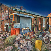 Abandoned Americana Artifacts Shack - Eldorado Canyon Techatticup Mine - Nelson NV - HDR