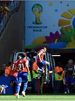 Fotball , 28. juni 2014 , Brasil - Chile<br /> 1:1 Jubel Torschuetze Alexis Sanchez (Chile)<br /> Fussball, FIFA WM 2014 in Brasilien, Achtelfinale, Brasilien - Chile<br /> Norway only
