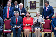 NO FEE PICTURES<br /> 20/1/16 Members of the Fianna Fail Parliamentary Party gather ahead of the closing of the party's annual think-in at the Seven Oaks Hotel in Carlow. Picture: Conor McCabe Photography