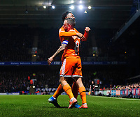 Blackpool's Jay Spearing, right, celebrates scoring his side's second goal with team-mate Joe Nuttall<br /> <br /> Photographer Chris Vaughan/CameraSport<br /> <br /> The EFL Sky Bet League One - Ipswich Town v Blackpool - Saturday 23rd November 2019 - Portman Road - Ipswich<br /> <br /> World Copyright © 2019 CameraSport. All rights reserved. 43 Linden Ave. Countesthorpe. Leicester. England. LE8 5PG - Tel: +44 (0) 116 277 4147 - admin@camerasport.com - www.camerasport.com
