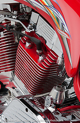 """Red Rocket,"" built by Arlen Ness and featured in ""The King of Choppers,"" by Michael Lichter and Arlen Ness and foreward by Sonny Barger. This bike sprouts from high-performance drag racing roots."