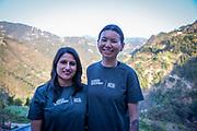 The Bukhel group team leaders at their homestay. Bukhel, Nepal.<br /> ICS / Restless Development volunteers in the Dakshinkali region of Nepal. (© Andy Aitchison / ICS)