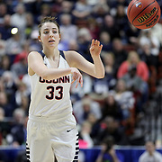 Katie Lou Samuelson, UConn, in action during the UConn Huskies Vs USF Bulls 2016 American Athletic Conference Championships Final. Mohegan Sun Arena, Uncasville, Connecticut, USA. 7th March 2016. Photo Tim Clayton