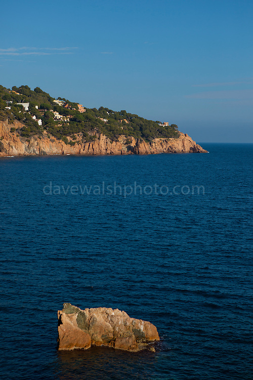Rock on the coastline at Tamariu, Catalonia, Spain