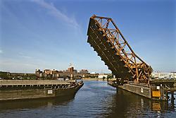 Boston Bridge While Opening