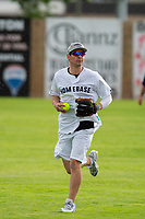 KELOWNA, CANADA - JUNE 28: NHL Montreal Canadiens player Carey Price runs in from the outfield during the opening charity game of the Home Base Slo-Pitch Tournament fundraiser for the Kelowna General Hospital Foundation JoeAnna's House on June 28, 2019 at Elk's Stadium in Kelowna, British Columbia, Canada.  (Photo by Marissa Baecker/Shoot the Breeze)