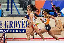 03-03-2017  SRB: European Athletics Championships indoor day 1, Belgrade<br /> In een lege Kombank Arena wordt de eerste dag van het Europees Kampioenschap gehouden / Madiea Ghafoor, Justine Swiety POL