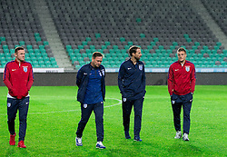 Wayne Rooney, first team coach Steve Holland, Interim Manager Gareth Southgate and Jamie Vardy during a tour of the stadium before an England press conference ahead of the football match between National teams of Slovenia and England in Round #3 of FIFA World Cup Russia 2018 Qualifier Group F, on October 10, 2016 in SRC Stozice, Ljubljana, Slovenia. Photo by Vid Ponikvar / Sportida