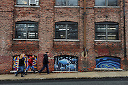 Murals adorn the Vernon St. buildings which house the Rogers Foam Factory and the Vernon Street artist studios. The studio, which celebrates its 40th anniversary, held its winter open studio event on Dec. 6th and 7th.<br /> Wicked Local staff photo / Kate Flock